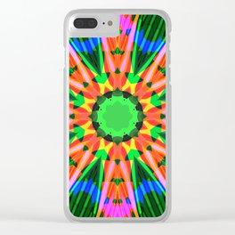 Fractal Flower Clear iPhone Case