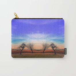 Trees, sunset, clouds, panorama and village | landscape photography Carry-All Pouch