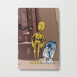 EP6 : C-3PO & R2-D2 Metal Print