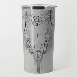 You and Me and the Devil makes 3 Travel Mug