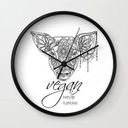 Every life is precious - pig Wall Clock