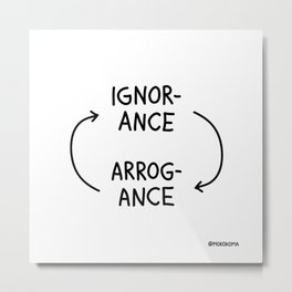 Ignorance and Arrogance Metal Print