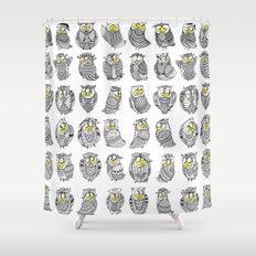 Sleepy Owls Shower Curtain
