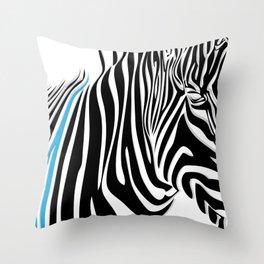 Painted Zebra  Throw Pillow