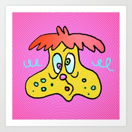 DUMBY DUED Art Print