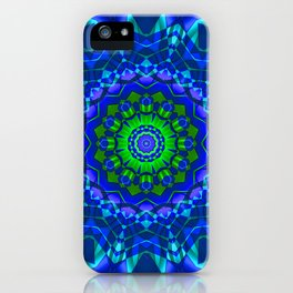 green blue kaleidoscope iPhone Case