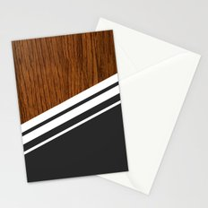 Wood StYle black Stationery Cards