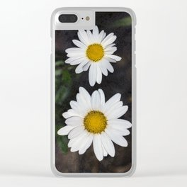 Old And Young Daisies Texture Clear iPhone Case