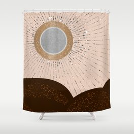 Rays of Love - Silver Bronze Shower Curtain