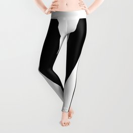 Letter M (Black & White) Leggings