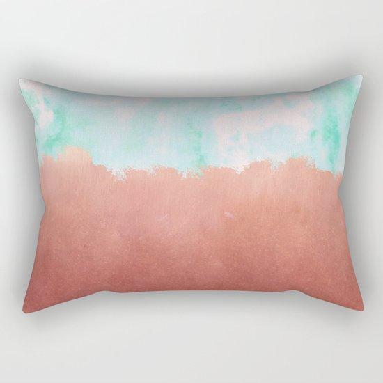 Sea Green + Copper #society6 #decor #buyart Rectangular Pillow
