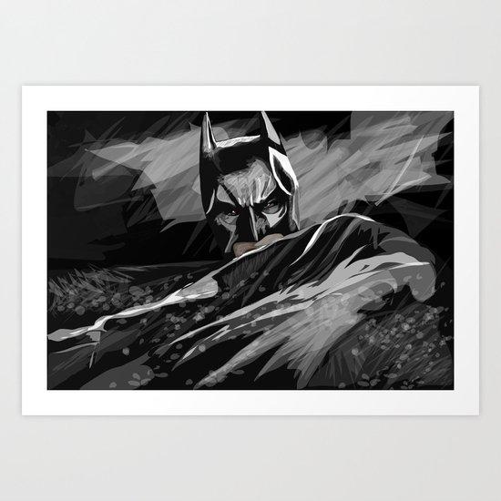 Bat hero Art Print
