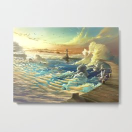 on shore of the sky Metal Print