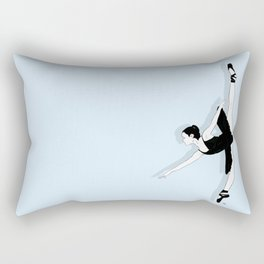 Blue Dancer Rectangular Pillow