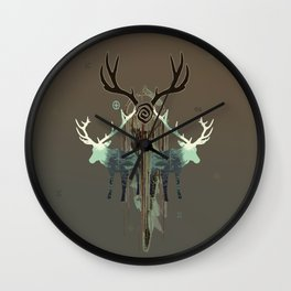 The forest spirits Wall Clock