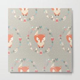 Baby fox pattern 02 Metal Print