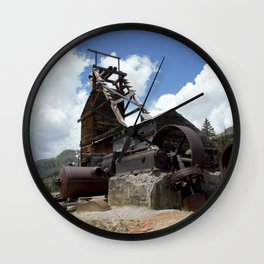 Longfellow Mine - Headstaff and Compressor Engine Wall Clock