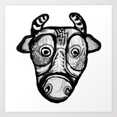 cow mask Art Print