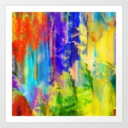Vibrant Paint Grunge Art Print