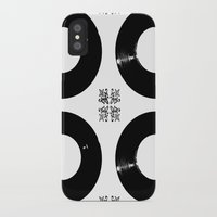 records iPhone & iPod Cases featuring Records by Derek Delacroix