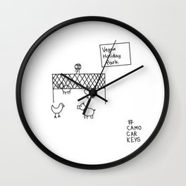 vegan holiday park Wall Clock