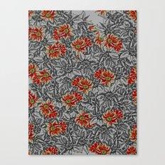Floral grey Canvas Print