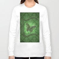 decorative Long Sleeve T-shirts featuring Decorative butterfly by nicky2342