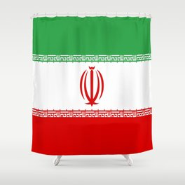 flag of iran- Persia, Iranian,persian, Tehran,Mashhad,Zoroaster. Shower Curtain