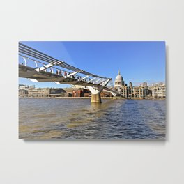 The Millennium Bridge Metal Print