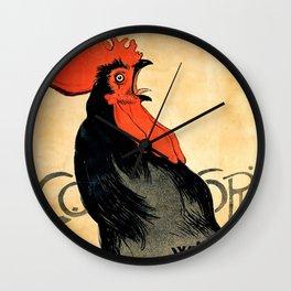 "Théophile Steinlen ""Cocorico"" Wall Clock"