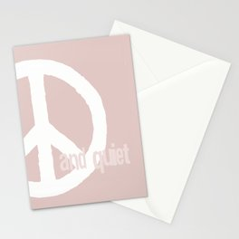 peace and quiet - blush Stationery Cards