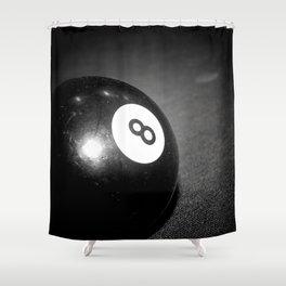 Eight Ball Shower Curtain