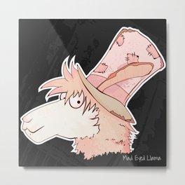 Mad Eyed Llama Metal Print