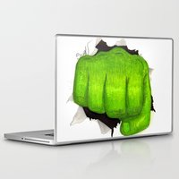 hulk Laptop & iPad Skins featuring hulk by Nathanee.