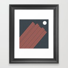 Moon Rays Framed Art Print