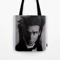 nick cave Tote Bags featuring Nick Cave by Buffy Ino Kua