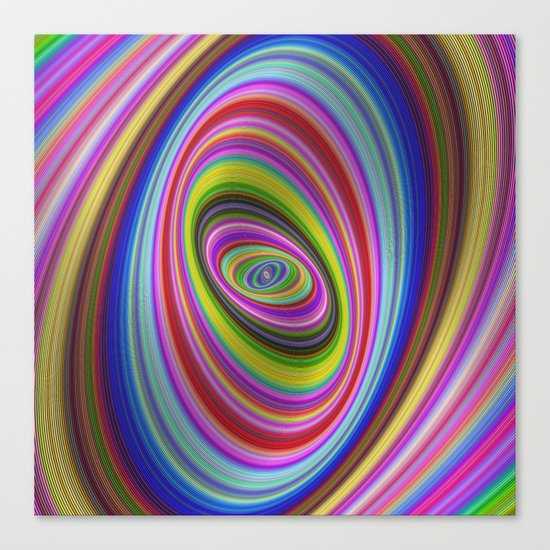 Colorful hypnosis Canvas Print