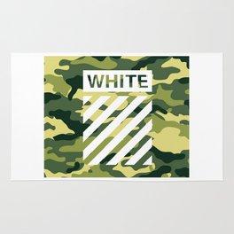 off white army camo Rug