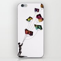 fear and loathing iPhone & iPod Skins featuring Fear and Loathing in the Meadows by Gelrev Ongbico