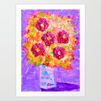 Little Sparkly Bouquet Art Print