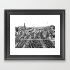 All Trains Lead to Vienna Framed Art Print