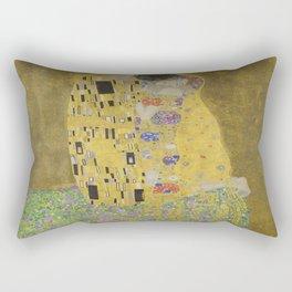 Gustav Klimt's The Kiss Rectangular Pillow