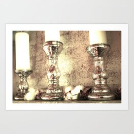 mercury candlesticks Art Print