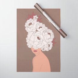Woman with Peonies Wrapping Paper