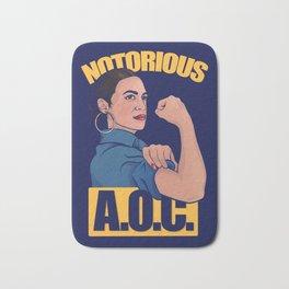 Notorious AOC alexandria ocasio cortez Bath Mat