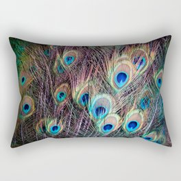 Peacock Tail Rectangular Pillow