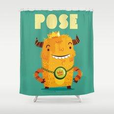 :::Pose Monster::: Shower Curtain
