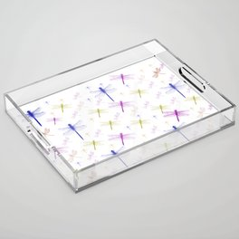 Dragonfly Pattern Acrylic Tray