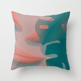 Floral tropical Throw Pillow