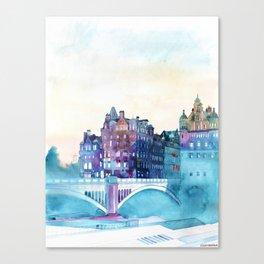 Winter in Edinburgh Canvas Print